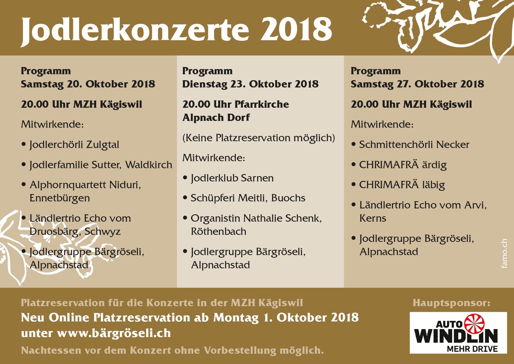 Jodlerkonzert 2018